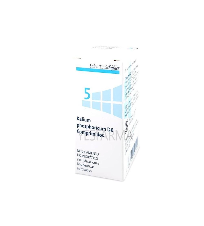 Comprar DHU Sal Schussler 5 Kalium phosphoricum para nervios y estrés. Sales de Schussler comprar en Farmacia Yesfarma.