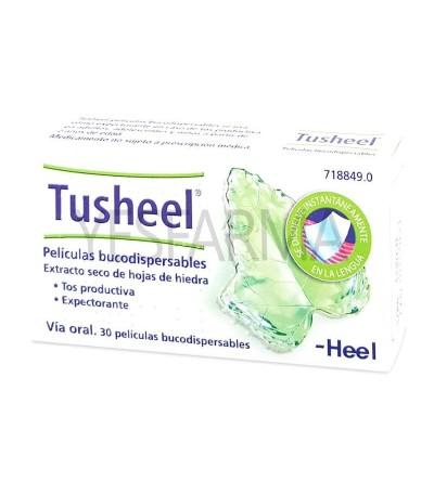 Comprar Tusheel 30 películas bucodispersables de Heel. Antitusivo natural para la mucosidad mejor precio Yesfarma.