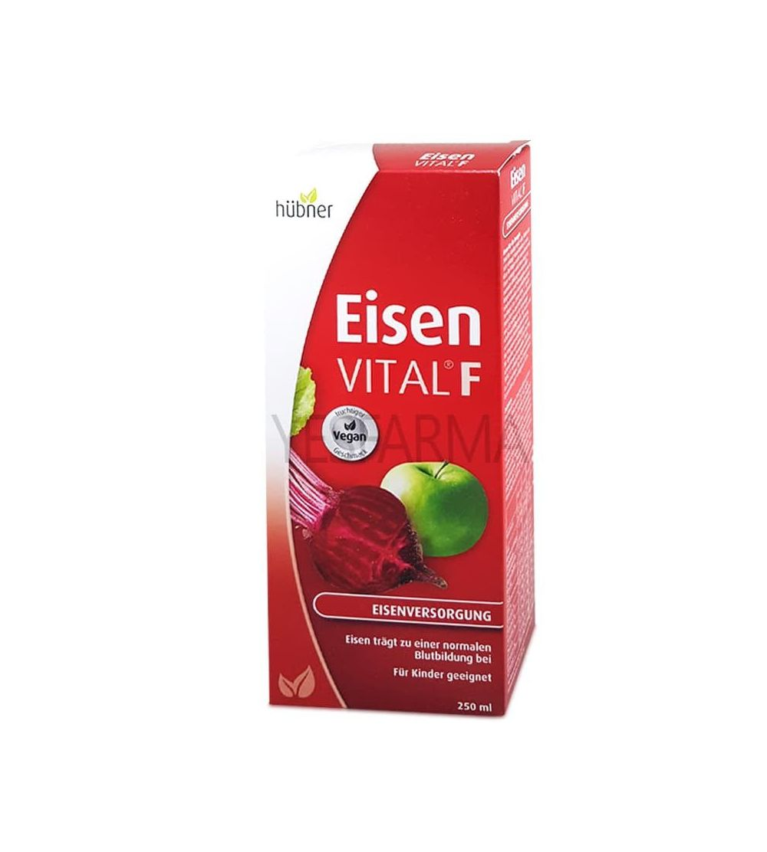 Comprar Eisen Vital F hirro y vitaminas 250ml Dimefar vitaminas naturales para fatiga y cansancio. Mejor precio Yesfarma.