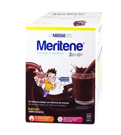 MERITENE JUNIOR CHOCOLATE 15SOBRES