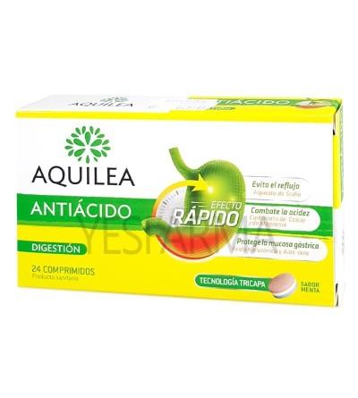 Compre Aquilea antiácido 24 comprimidos. Acidez natural, refluxo, tratamento de queima. Yesfarma preço.