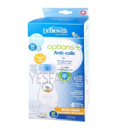 Comprar Set de regakiDr Brown's Options plus azul. Sistema anticólico mejor precio Farmacia Yesfarma.