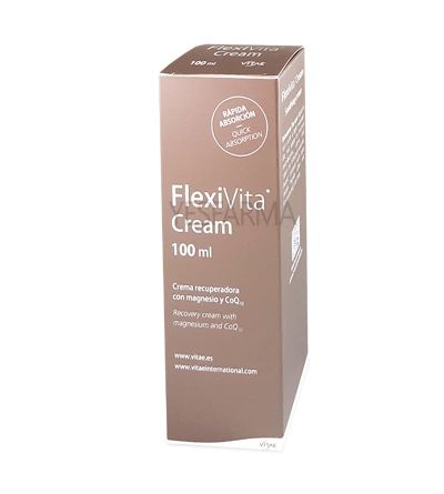 Comprar FlexiVita Cream 100ml Vitae. Crema natural para dolores musculares y articulares. Precio Yesfarma.
