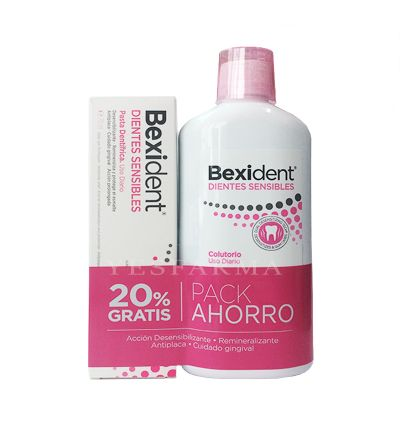 Bexident dientes sensibles colutorio 500ml + pasta 75 ml