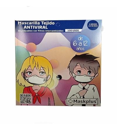 Maskplus Mascarilla Aniviral Infantil 6-12 años
