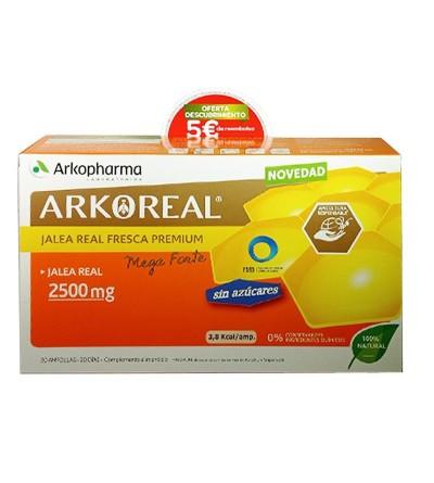 Arkoreal Jalea Real 2500 mg sin azúcar 20 ampollas