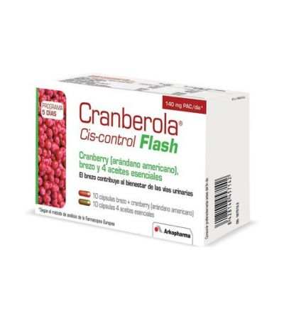 CRANBEROLA CISCONTROL FLASH ARANDANO AMER 20 CAPS