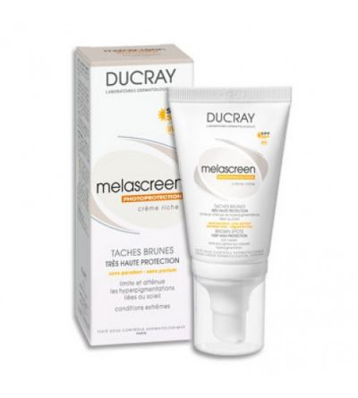 Ducray Melascreen UV SPF 50+ crema rica 40 ml Duo