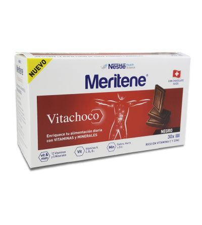 MERITENE VITACHOCO 30 TABLETAS 5 G CHOCOLATE NEGRO