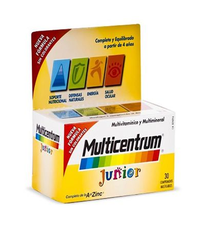 Multicentrum junior 30 comprimidos