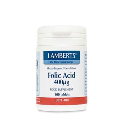 Lamberts Ácido fólico 400 mcg 100 cp