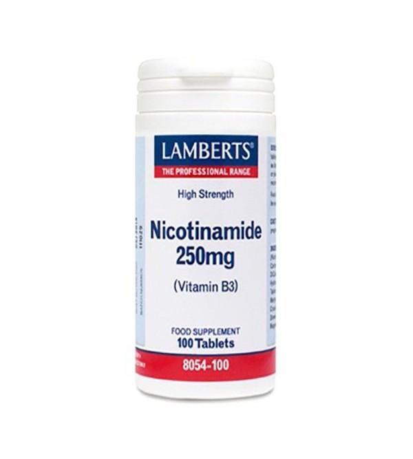 Lamberts Nicotinamida 250 mg 100 tab