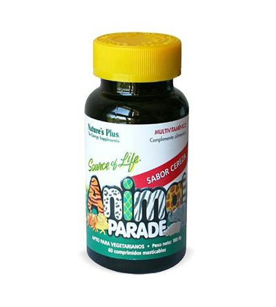 NATURES PLUS ANIMAL PARADE MULTIVIT CEREZA 60 COMP MASTICABLES