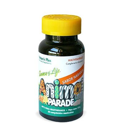 Nature's Plus Animal Parade Multivitamínico naranja 60 comp