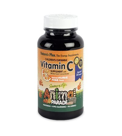 Natures Plus Animal Parade Vitamina C 90 comprimidos masticables