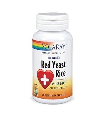 SOLARAY RED YEAST RICE 600 MG 45 CAP
