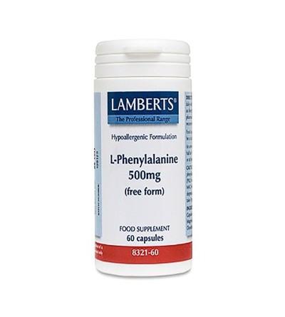 LAMBERTS L-FENILALANINA 500MG 60CAPS