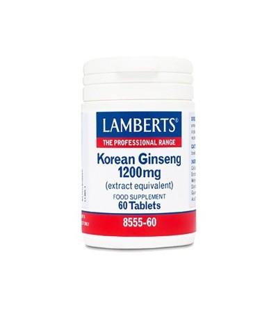 Lamberts Ginseng coreano 1200 mg 60 comp
