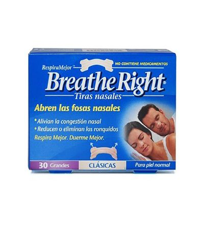 Breathe Right tiras nasales talla grande 30 uds