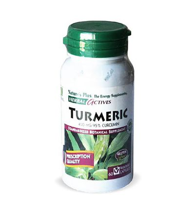 NATURES PLUS TURMERIC (CURCUMA) 400 MG 60 CAP