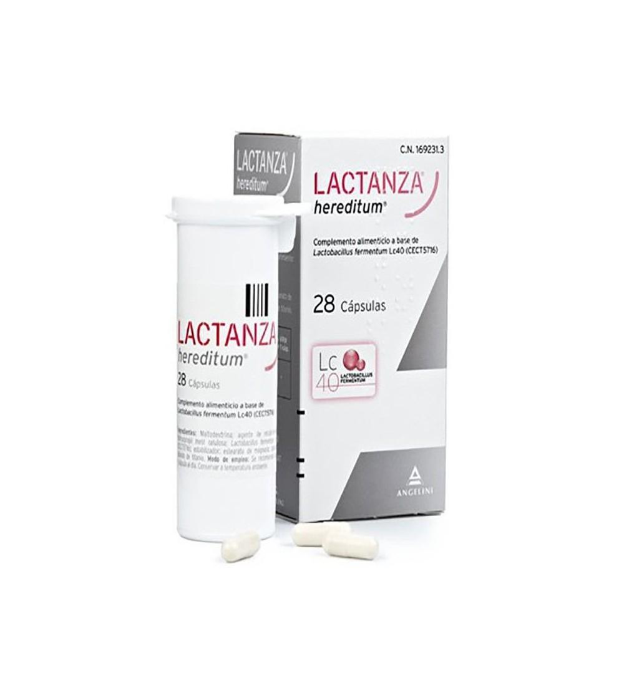 Lactanza Hereditum probiótico 28 cápsulas Lactobacillus fermentum Lc40