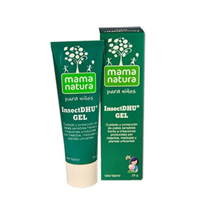 Comprar InsectDhu Gel de Mama Natura para pequeñas reacciones alérgicas de la piel de bebés.
