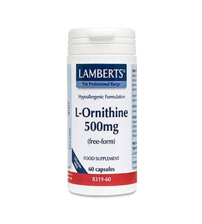 Lamberts L-ornitina 500 mg 60 cáps