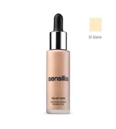 Sensilis Velvet Skin maquillaje tono 01 creme 30 ml