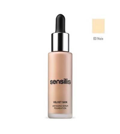 Sensilis Velvet Skin maquillaje tono 03 noix 30 ml