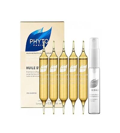 Phyto Huile d'Ales tratamiento intensivo hidratante 5 ampollas x 10ml