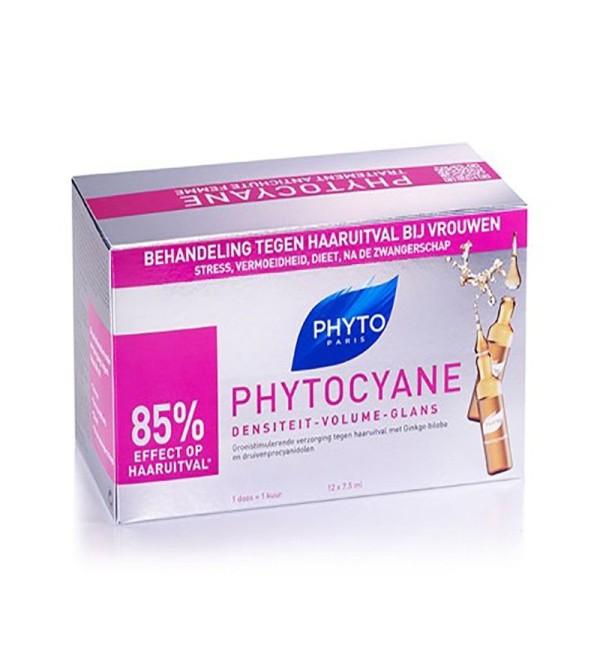 Phyto Phytocyane densidad volumen 12 ampollas x 7.5 ml