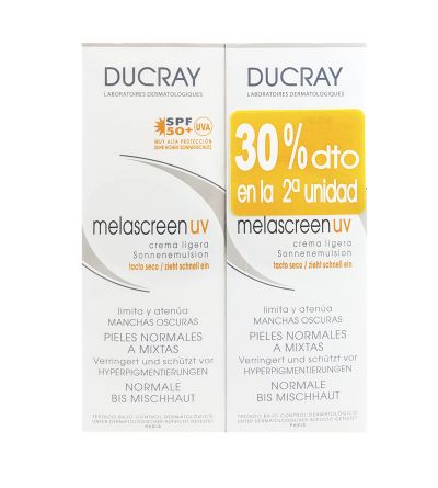 Ducray Melascreen UV SPF 50+ crema ligera 40 ml Duo